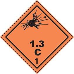 Etiquette de danger 10×10 cm en rouleau, classe 1
