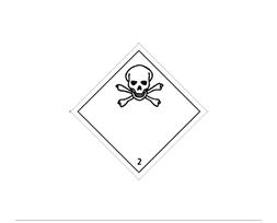 Étiquette de danger Classe 2.3