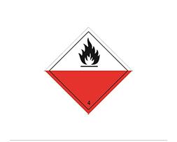 Étiquette de danger Classe 4.2