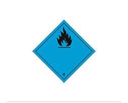 Étiquette de danger Classe 4.3