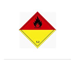 Étiquette de danger Classe 5.2