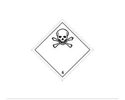 Étiquette de danger Classe 6.1