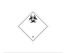 Étiquette de danger Classe 6.2