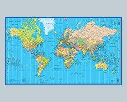 Mappemonde (format 68 x 99 cm)