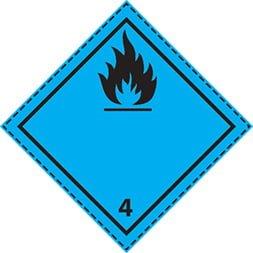 Plaque-étiquette de danger ADR classe 4.3