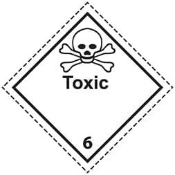 Plaque-étiquette de danger ADR classe 6.1