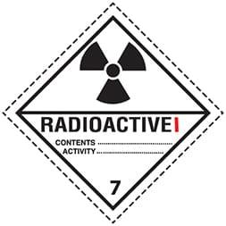 Etiquette de danger classe 7.1 (7A) Radioactive 1