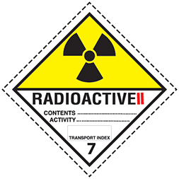 Etiquette de danger classe 7.2 (7B) Radioactive 2