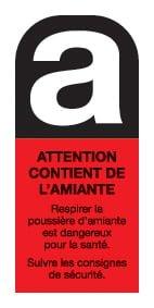 ETIQUETTE Amiante