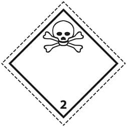 Plaque-étiquette de danger ADR classe 2.3