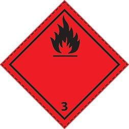 Plaque-étiquette de danger ADR classe 3