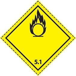 Plaque-étiquette de danger ADR classe 5.1