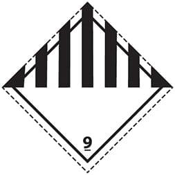 Plaque-étiquette de danger ADR classe 9