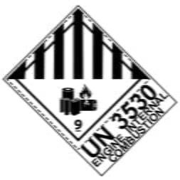 Etiquette de danger 10×13,3 cm en rouleau, classe 9A Batteries au lithium avec code ONU/désignation