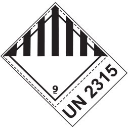 Etiquette de danger 10×10 cm en rouleau, classe 9 avec texte Miscellaneous