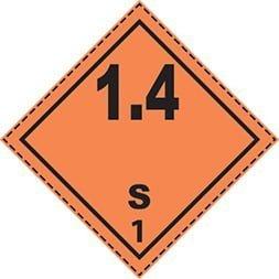Plaque Etiquette de danger classe 1