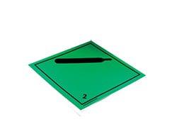 Plaque-étiquette de danger ADR classe 2.2
