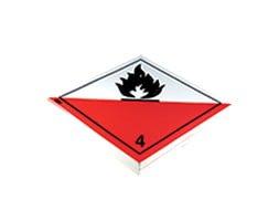 Etiquette de danger IMDG classe 4.2