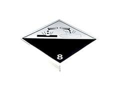 Plaque-étiquette de danger ADR classe 8