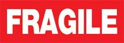 Etiquette Fragile rouge