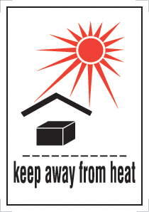 Etiquette IATA Keep away from heat
