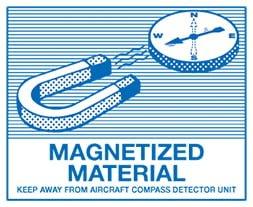 Etiquette IATA Magnetized Material