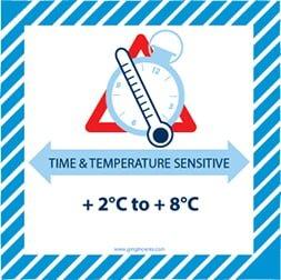Etiquette IATA Time & temperature sensitive