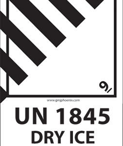 Etiquette UN 1845 Carbon dioxyde Dry Ice