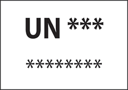 Etiquette IATA UN
