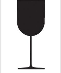 Etiquette Verre 7,4x10,5 cm