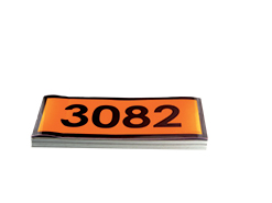 panneau orange IMDG avec code ONU 12x30 cm