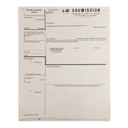 Formulaire D 48 soumission Modèle 1963
