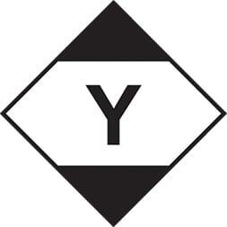 Etiquette de danger 10×10 cm à plat, Quantité Limitée Y, LQ Y