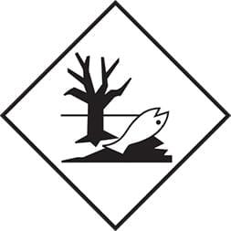 Plaque-étiquette de danger ADR Dangereux pour l'environnemen