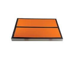 Panneau orange vierge avec barre 30x40 cm