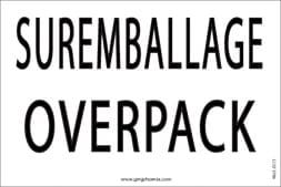 Etiquette Suremballage Overpack