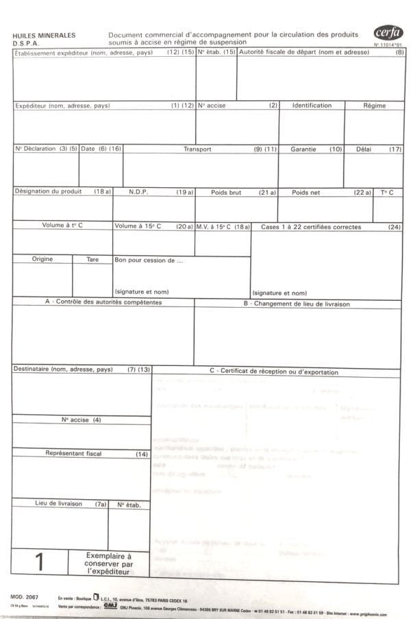 document d'accompagnement huiles minérales