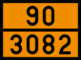 panneau orange 30x40 avec code ONU