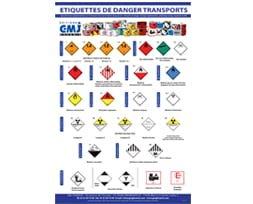 étiquettes de danger ADR IATA IMDG