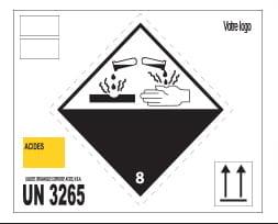 Étiquette pour déchets dangereux