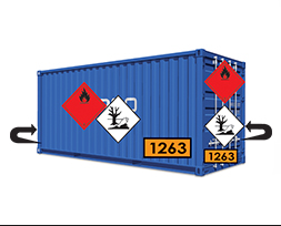 Étiquette de danger conteneur maritime IMDG